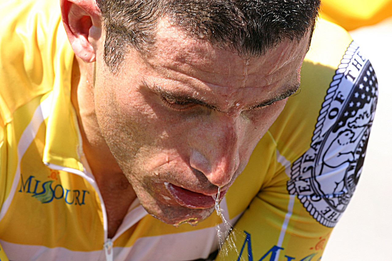 George Hincapie after the TT in Tour of MO 07