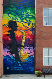 Mural outside the Jazz Museum in Kansas City, MO.