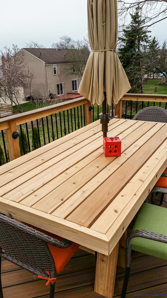 Sawhorse Dining Table and Matching Bench