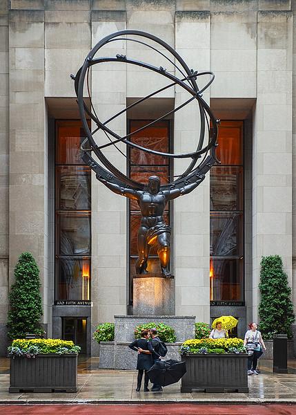 Charles Atlas at Rockerfeller Center NYC