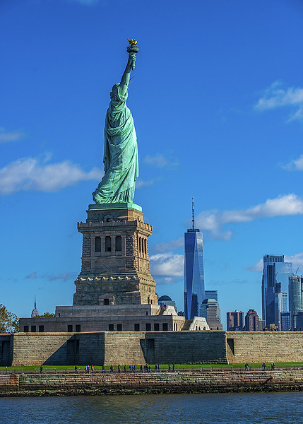 Statue of Liberty World Trade Center and Empire State building
