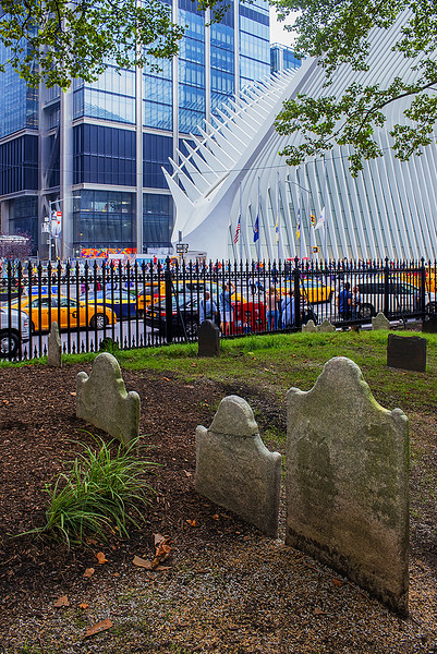 Oculus at WTC and old grave yard on Church property