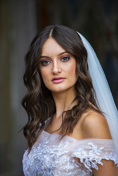 Bride model in Central Park