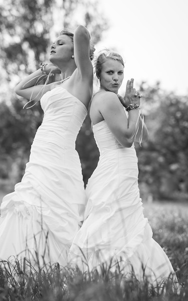 Two beautyful  brides