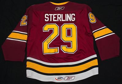 AHL Chicago Wolves 2008/09 Brett Sterling Burgundy PHOTOMATCHED