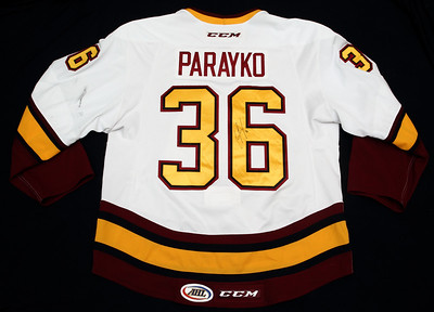 AHL Chicago Wolves 2014/15 Colton Parayko White PHOTOMATCHED
