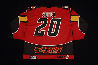 ECHL Cincinatti Cyclones 2011/12 Garrett Suter Red