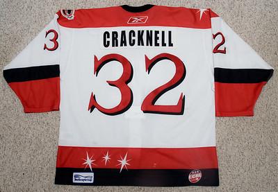 ECHL Las Vegas Wranglers 2006/07 Adam Cracknell White
