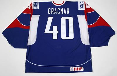 IIHF Slovenia 2013 WC Luka Gracnar Blue PHOTOMATCHED