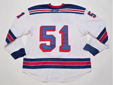 NHL New York Rangers White #51 NOBR
