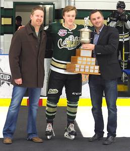 2017 -2018 AJHL Top Defenceman , Jacob Bernard-Docker
