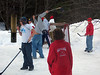 The boys play yard hockey at after Game Party at DuMond's to celebrate End of Season and LP International Championship