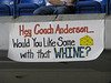 Sign mocking Chicago Wolves coach John Anderson
