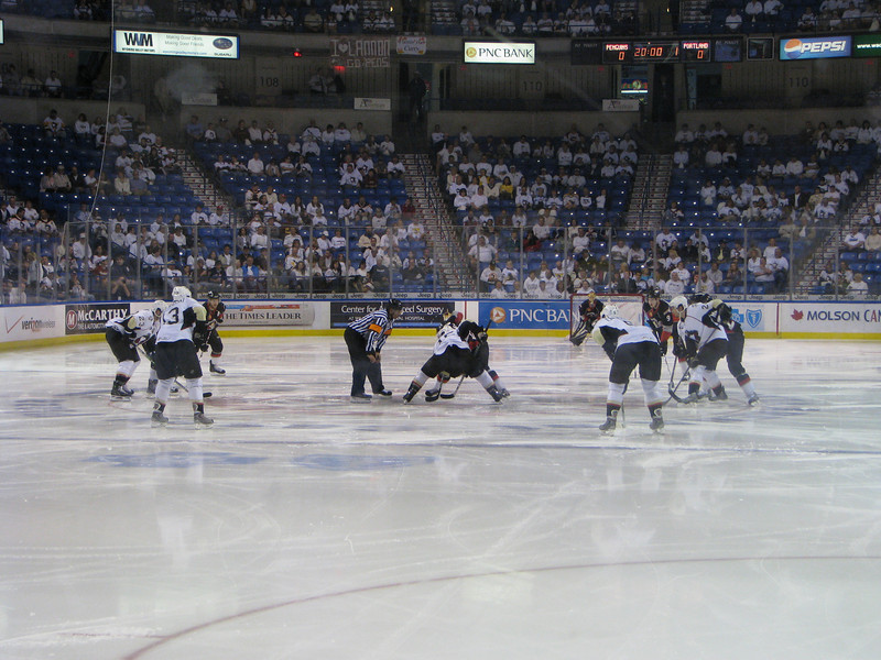 Opening faceoff, Game 1
