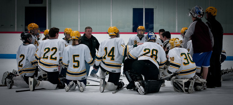 A wonderful tradition started by Dan Early the head coach for the JV team.  After every game the team gathers in a circle on the Ice, joins hands and recites the lords prayer. Our Father who art in Heaven, Hallowed be thy name;  Thy kingdom come, Thy will be done  On earth as it is in heaven.  Give us this day our daily bread; And forgive us our trespasses  As we forgive those who trespass against us;  And lead us not into temptation,  But deliver us from evil. ... Our Lady of Victory, PRAY FOR US !