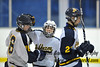 Congratulations after scoring a goal. White Plains vs. Pelham at Ebersole Modified Ice Hockey, February 13, 2012