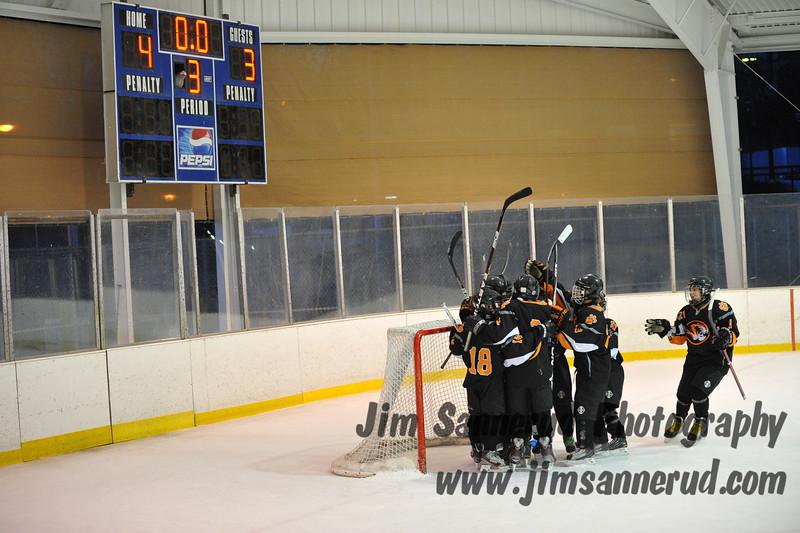 Last game of the season, first win of the season. White Plains vs. Pelham at Ebersole Modified Ice Hockey, February 13, 2012