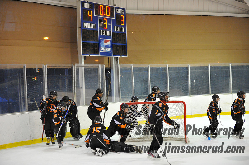 First win of the season in our last game of the season. White Plains vs. Pelham at Ebersole Modified Ice Hockey, February 13, 2012