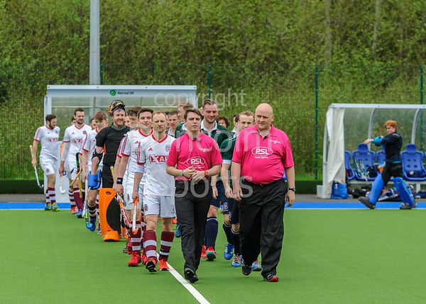 5 May 2018 at the National Hockey Centre, Glasgow Green. Scottish Hockey Cup Finals day. <br /> Men's District Plate Final - Aberdeen GSFP 2s v Edinburgh University 2s