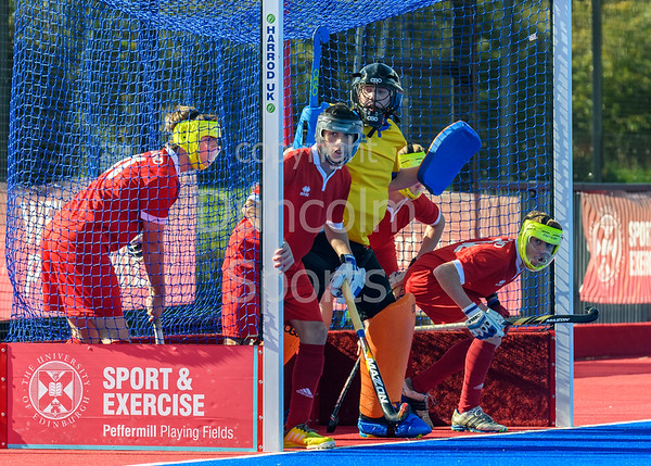 22 September 2018 at Peffermill, Edinburgh.  Scottish Hockey Youth Interdistricts, under 16 boys. Midlands v East.