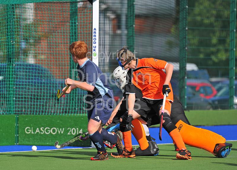 25 September 2016 at the National Hockey Centre, Glasgow Green.<br /> Scottish Hockey Youth Interdistrict tournament - under 18s - East v Highland