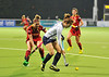 28 April 2014. Four Nations Hockey Tournament At the National Hockey Centre, Glasgow Green.<br /> Belgium v Korea