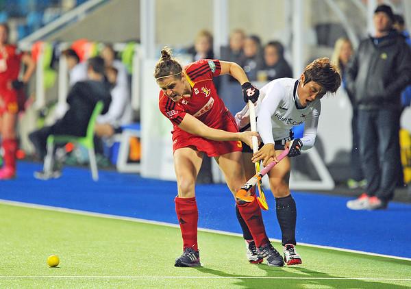 28 April 2014. Four Nations Hockey Tournament At the National Hockey Centre, Glasgow Green.<br /> Belgium v Korea