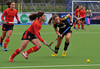 1 May 2014. Champions Challenge 1 Hockey Tournament at the National Hockey Centre, Glasgow Green.<br /> <br /> Quarter final - Belgium v Spain