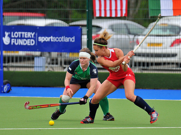 4 May 2014. Champions Challenge 1 Hockey Tournament At the National Hockey Centre, Glasgow Green.<br /> Final Match - USA v Ireland
