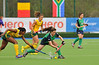 27 April 2014. Champions Challenge 1 Hockey Tournament at the National Hockey Centre, Glasgow Green.<br /> South Africa v Ireland