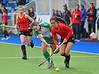 28 April 2014. Four Nations Hockey Tournament At the National Hockey Centre, Glasgow Green.<br /> Ireland v Spain