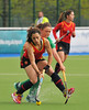 28 April 2014. Four Nations Hockey Tournament At the National Hockey Centre, Glasgow Green.<br /> Ireland v Spain
