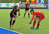 4 May 2014. 5/6th Classification Match from the Champions Challenge 1 Hockey Tournament at the National Hockey Centre, Glasgow Green.<br /> Belgium v Korea