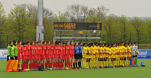 27 April 2014. Champions Challenge 1 Hockey Tournament at the National Hockey Centre, Glasgow Green.<br /> <br /> S Korea v India