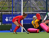 1 May 2014. Champions Challenge 1 Hockey Tournament at the National Hockey Centre, Glasgow Green.<br /> Quarter final - Korea v Ireland