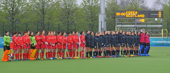 30 April 2014. Champions Challenge 1 Hockey Tournament At the National Hockey Centre, Glasgow Green.<br /> Scotland v Korea