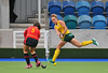4 May 2014. Champions Challenge 1 Hockey Tournament At the National Hockey Centre, Glasgow Green.<br /> <br /> 3rd Place Play-off Match - South Africa v Spain