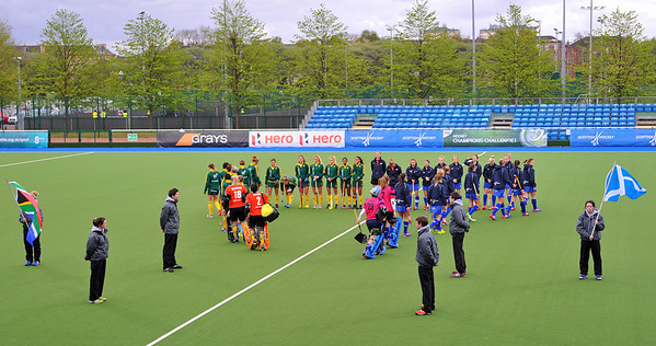 1 May 2014. Champions Challenge 1 Hockey Tournament At the National Hockey Centre, Glasgow Green.<br /> Quarter final - South Africa v Scotland