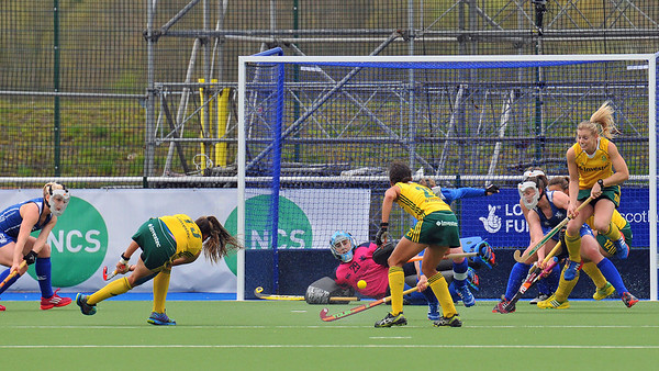 1 May 2014. Champions Challenge 1 Hockey Tournament At the National Hockey Centre, Glasgow Green.<br /> <br /> Quarter final - South Africa v Scotland