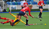 27 April 2014. Champions Challenge 1 Hockey Tournament At the National Hockey Centre, Glasgow Green.<br /> <br /> USA v Spain