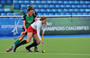 30 April 2014. Champions Challenge 1 Hockey Tournament At the National Hockey Centre, Glasgow Green.<br /> USA v Ireland