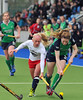 30 April 2014. Champions Challenge 1 Hockey Tournament At the National Hockey Centre, Glasgow Green.<br /> <br /> USA v Ireland