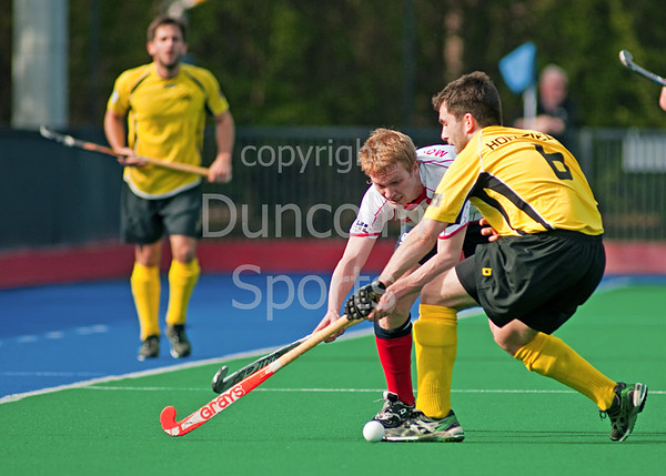 Western Wildcats v Kelburne.<br /> The 2011 Mens Final of the Arthur McKay Scottish Cup at Peffermill on 9th April 2011.