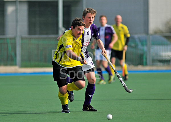 Kelburne v Inverleith, a Scottish Division 1 hockey match, played at Bellahouston on 24th March 2012.