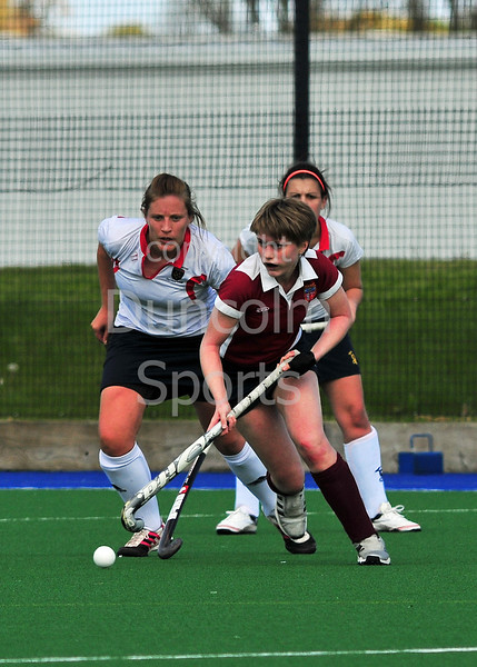 Ellon Ladies v Aberdeen GSFP<br /> The Scottish Women's District Plate Final, played at Peffermill, Edinburgh, on 5 May 2012.