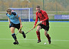 Clydesdale Western v Dundee Wanderers. A National League Division 1 match at the National Hockey Centre, Glasgow Green, on 19 October 2013