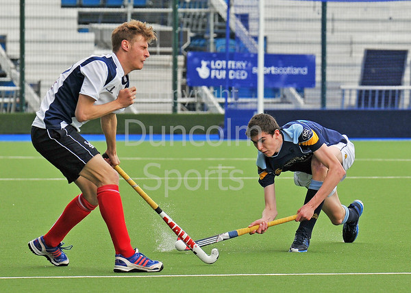 18 May 2014 at the National Hockey Centre, Glasgow Green.<br /> Men's District Cup Final - PSL Team Sport Clydesdale II v Grange II