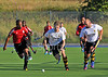 Trinidad & Tobago v Hillhead. A challenge match played at Auchenhowie on 17 July 2014