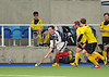 Kelburne v Grove Menzieshill. Scottish Division 1 match at the National Hockey Centre, Glasgow Green on 8 March 2014