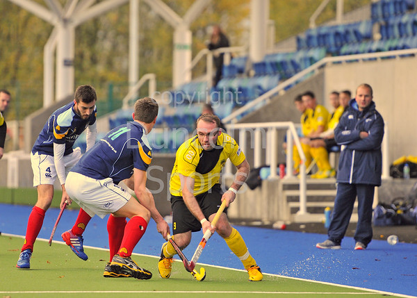 Kelburne v Clydesdale. Scottish League Division 1 match at Glasgow Green on 2 November 2013.
